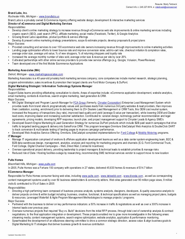 Search Engine Evaluator Resume Awesome Marty Terbrack Resume 2016