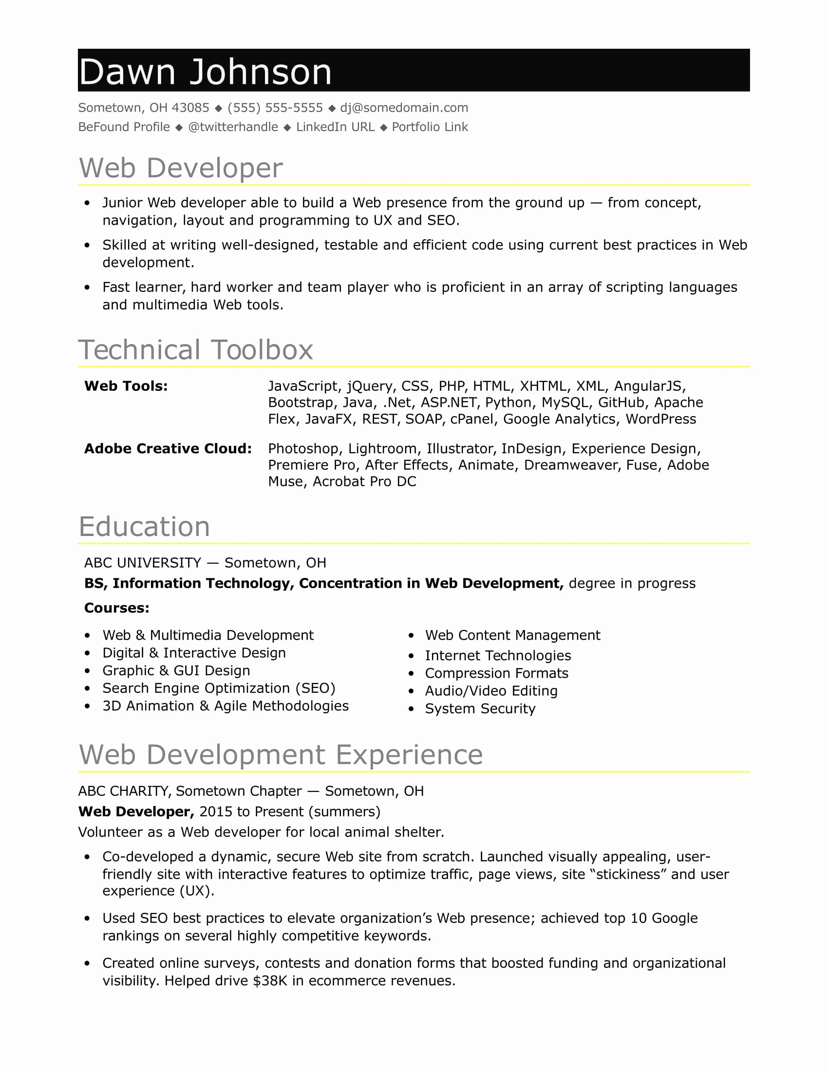 Search Engine Evaluator Resume Lovely Sample Resume for An Entry Level It Developer