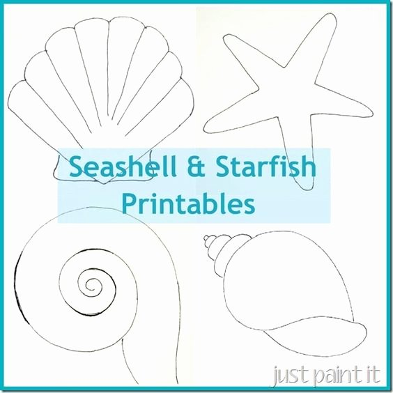 Seashell Template Printable Best Of Free Seashell and Starfish Printable Patterns for Painting