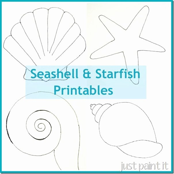 Seashell Template Printable Inspirational Seashell and Starfish Pattern Printables Just Paint It Blog