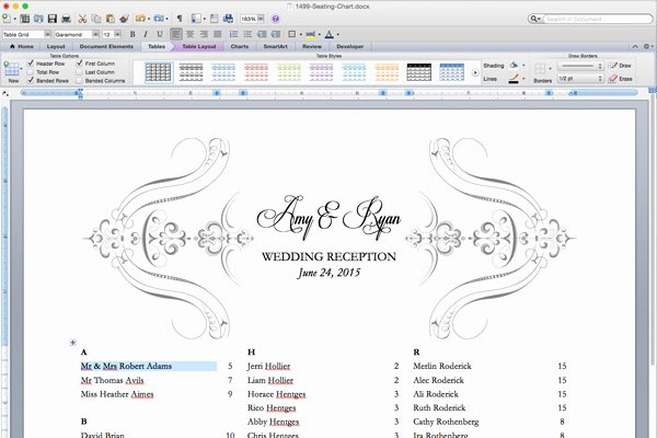 Seating Chart Template Word Best Of Free Printable Wedding Reception Templates