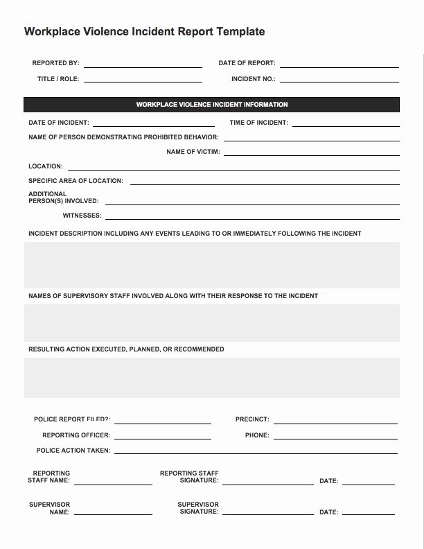 Security Incident Report Template Word Best Of Free Incident Report Templates & forms