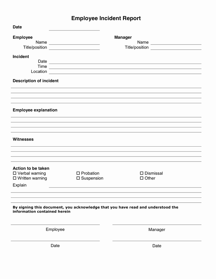 Security Incident Report Template Word Inspirational 10 Incident Report Templates Word Excel Pdf formats
