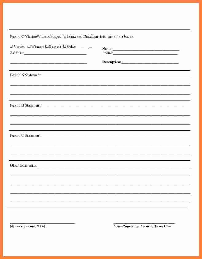 Security Incident Report Template Word New Hazard Report Template Hazard Identification 11 Security