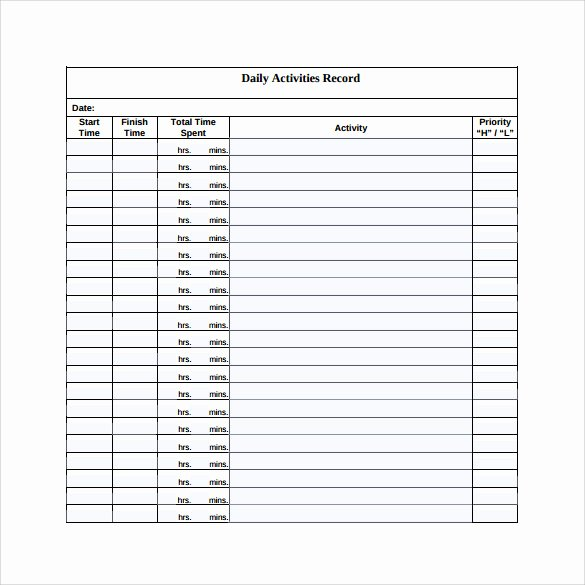 Security Officer Daily Activity Report Sample Awesome 16 Sample Daily Log Templates – Pdf Doc