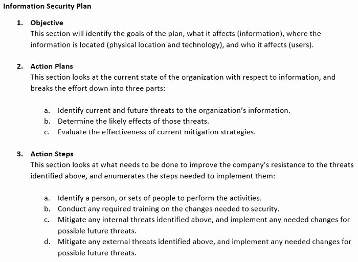 Security Report Example Awesome Information Security Plan Examples & Incident Response