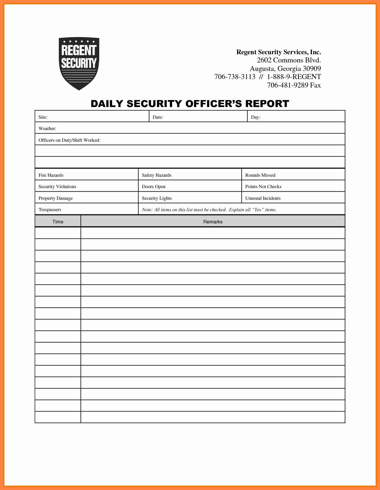 Security Report Example Fresh 4 Security Guard Incident Report Template