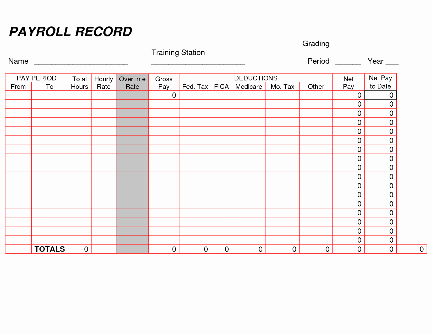 Self Employment Ledger forms Beautiful Printable Payroll Ledger
