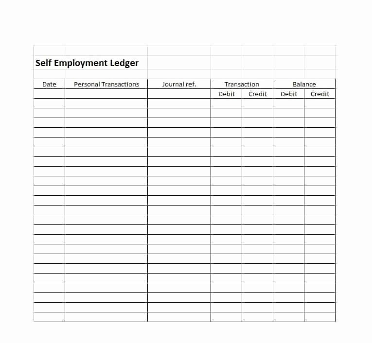 Self Employment Ledger forms Lovely Self Employment Ledger 40 Free Templates & Examples