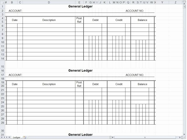 Self Employment Ledger Template Excel Beautiful Self Employment Ledger Template Excel Free Download