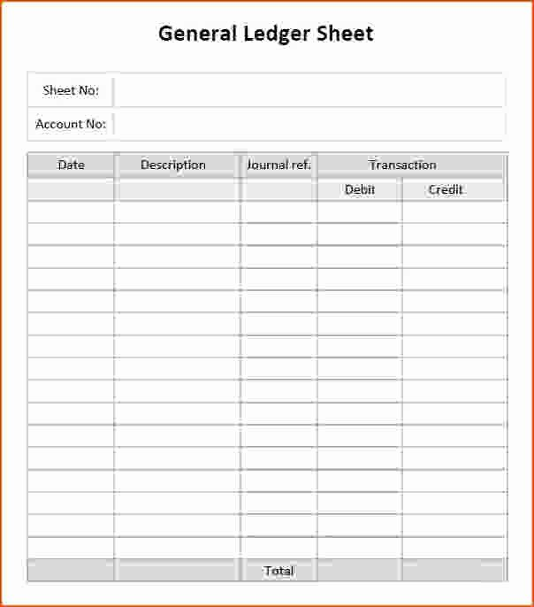 Self Employment Ledger Template Excel Inspirational General Ledger Template