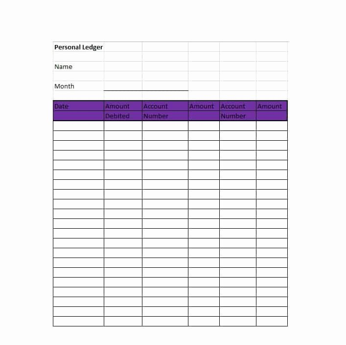 Self Employment Ledger Template Excel New Self Employment Ledger Template Excel Free Download