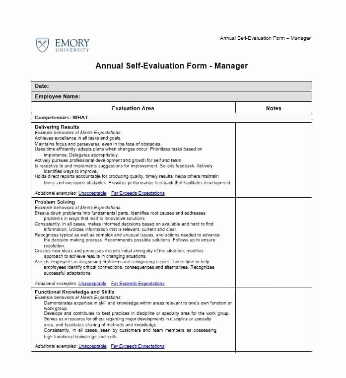 Self Performance Review Template Best Of 50 Self Evaluation Examples forms & Questions Template Lab