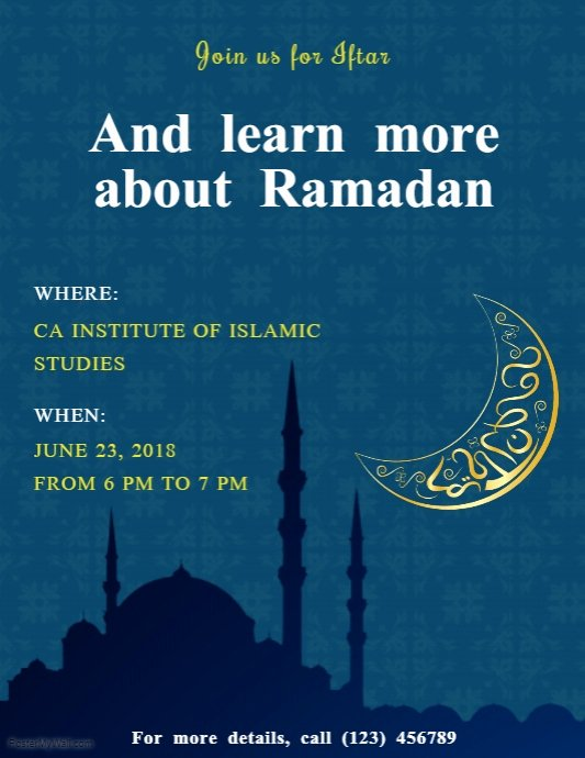 Seminar Invitation Template Fresh Ramadan Seminar Invite Flyer Template