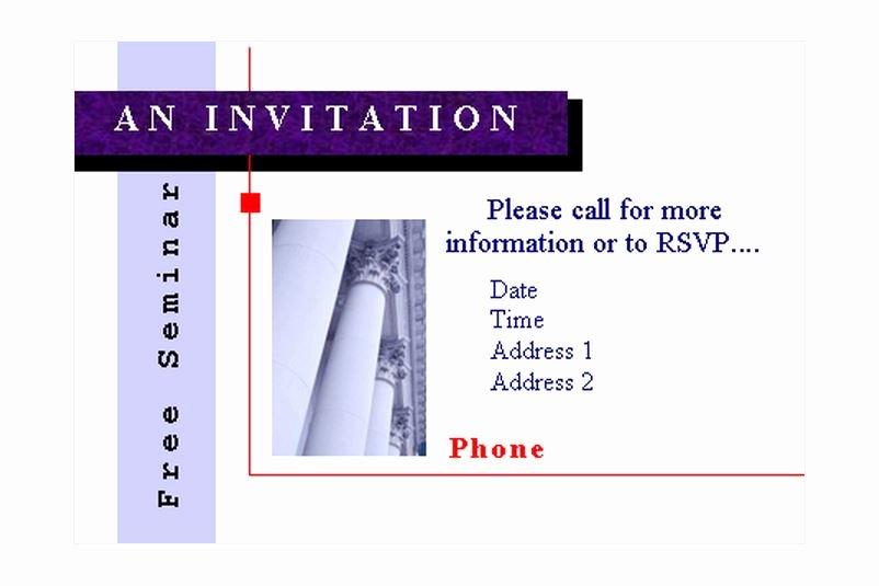 Seminar Invitation Template Unique Seminar Invitations