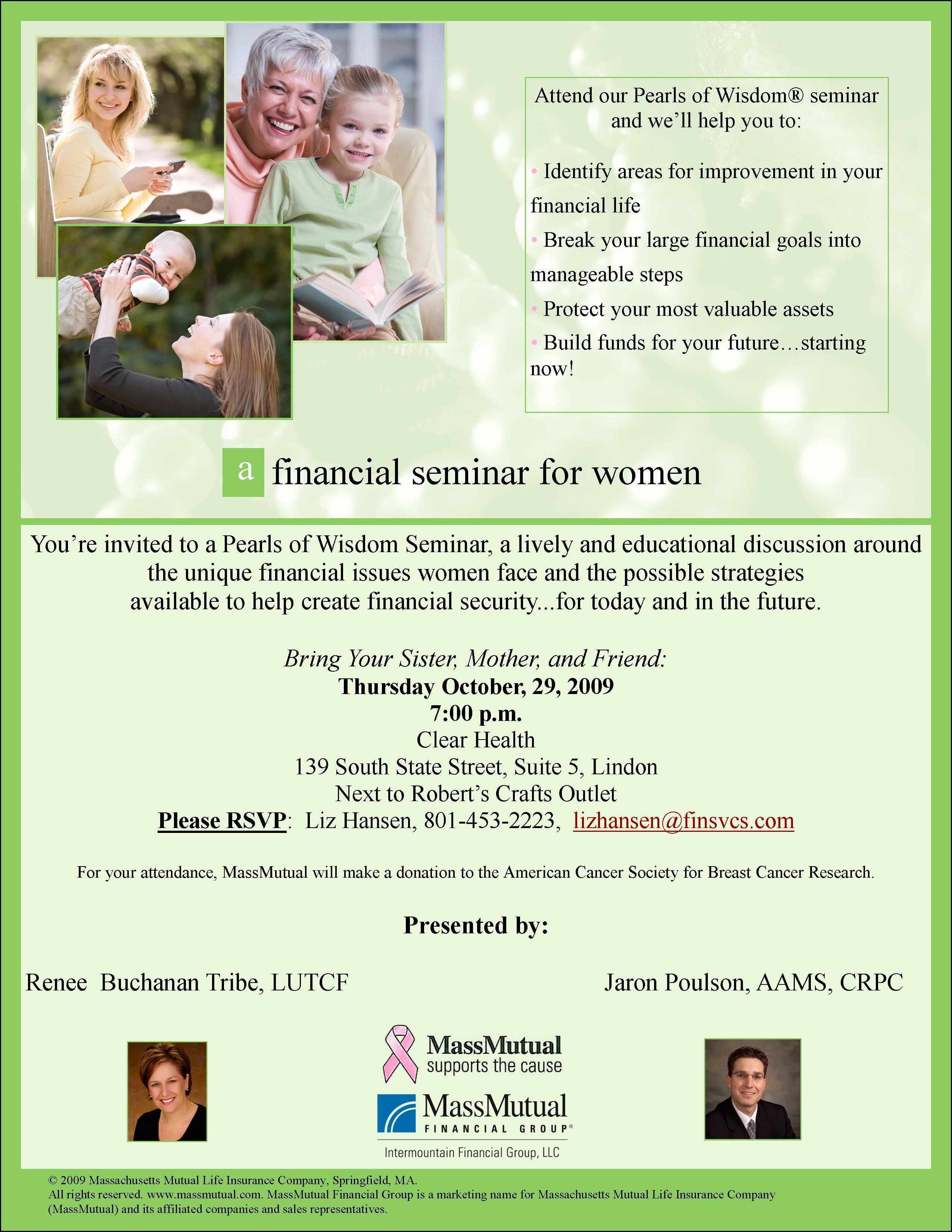 Seminar Invitation Templates Awesome Financial Seminar Wording