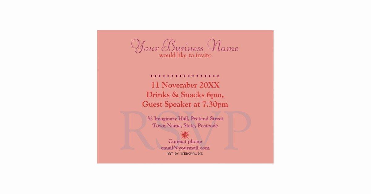 Seminar Invitation Templates Elegant Business Seminar Workshop Invitation Template Postcard