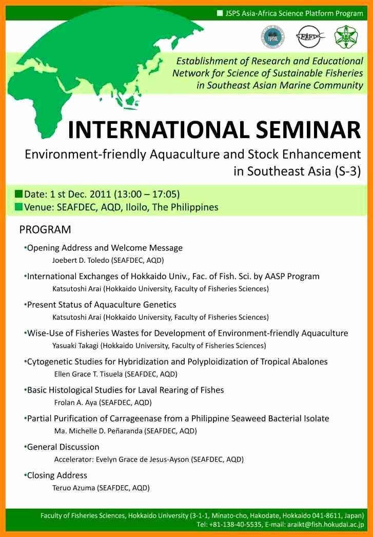 Seminar Invitation Templates Inspirational Seminar Announcement Template Entown Posters