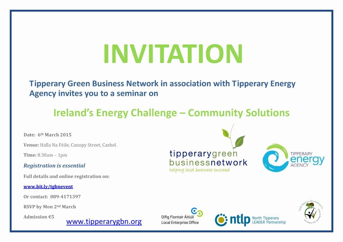 Seminar Invitation Templates Lovely Ireland's Energy Challenge – Munity solutions Seminar