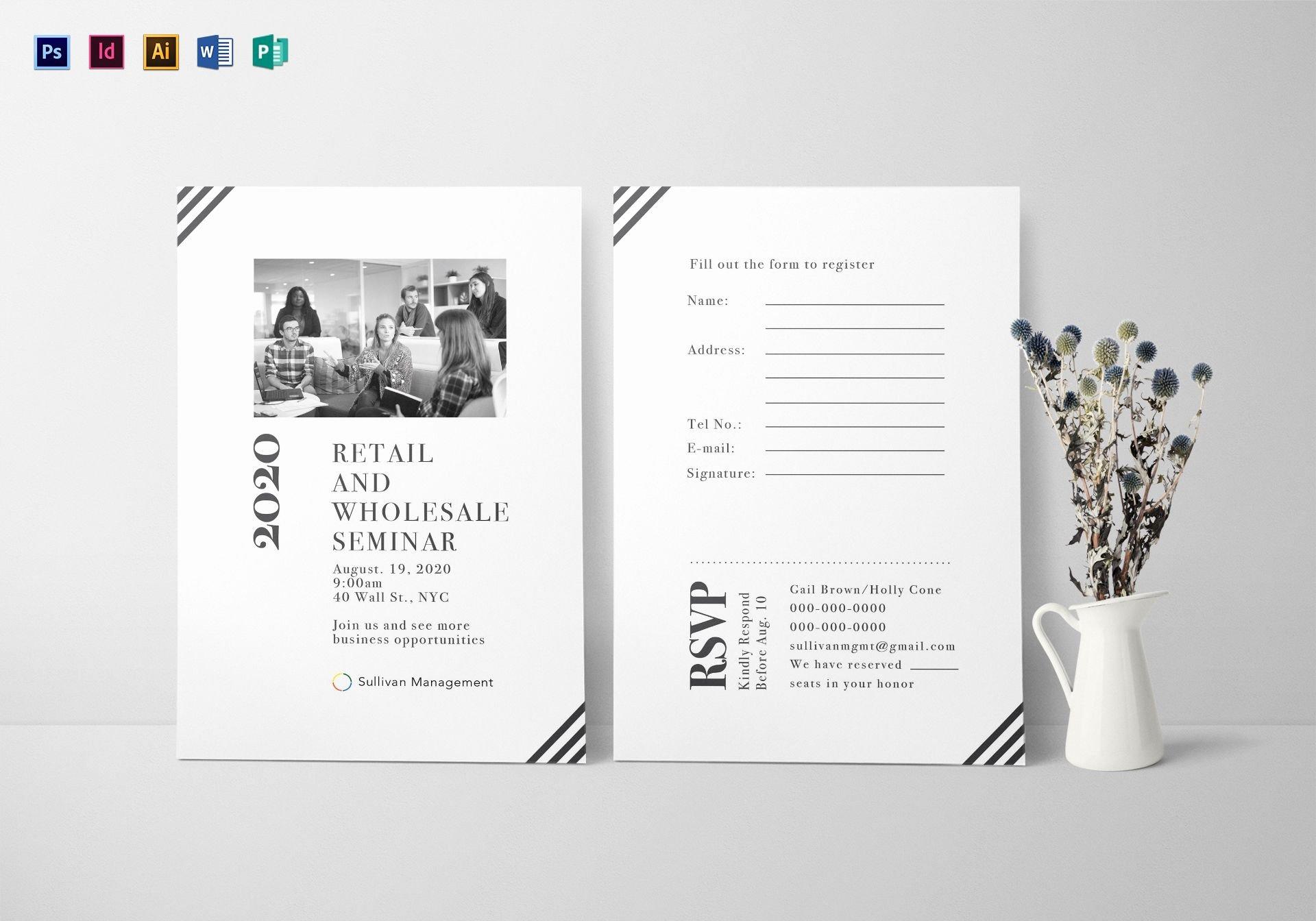 Seminar Invitation Templates New Seminar Invitation Card Design Template In Psd Word