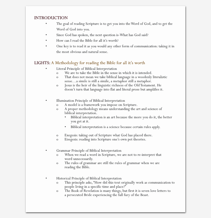 Sermon Template Microsoft Word Fresh Sermon Outline Template 12 for Word and Pdf format