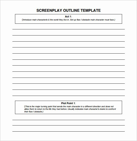 Sermon Template Microsoft Word Luxury Screenplay Outline Template 6 Free Sample Example