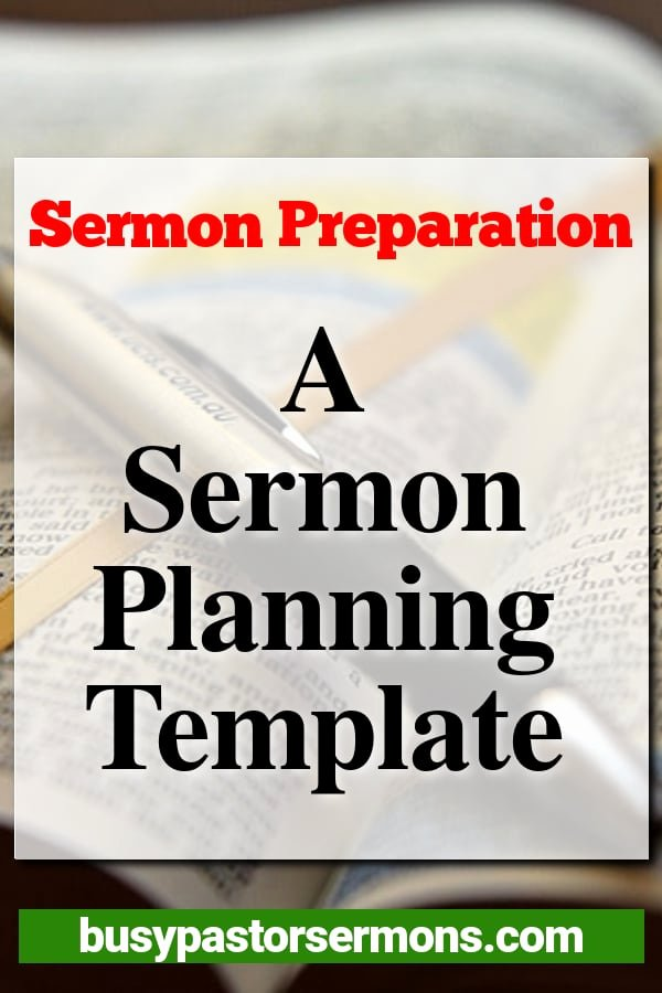 Sermon Template Microsoft Word New Sermon Preparation A Sermon Planning Template