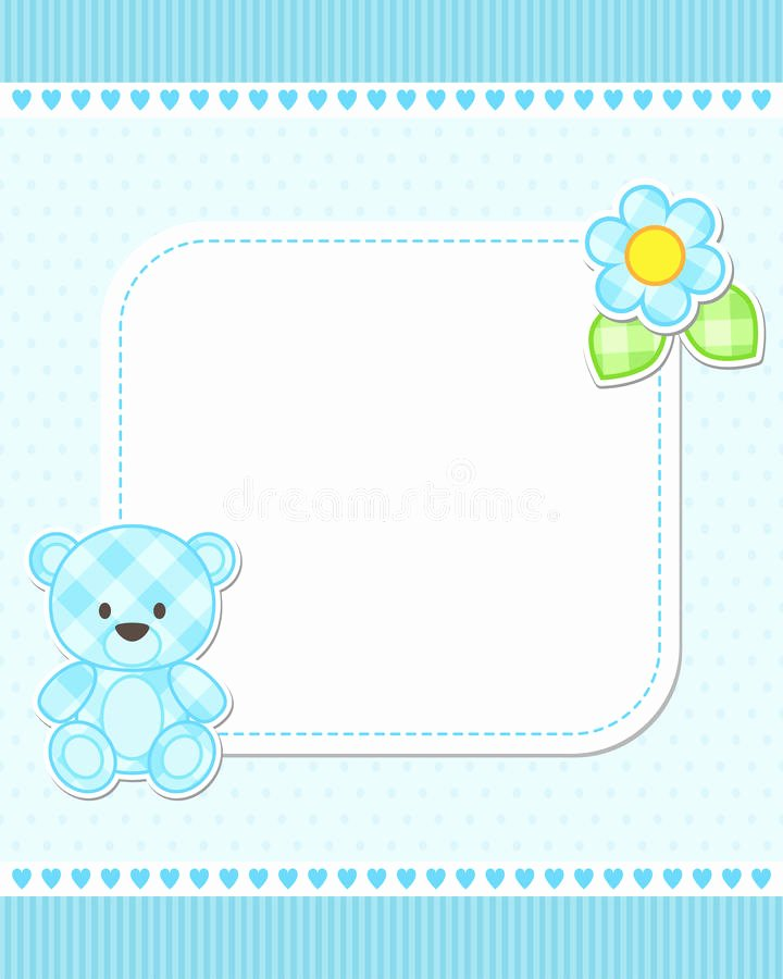 Service Dog Id Card Template Free Download New Blue Teddy Bear Card Stock Vector Illustration Of