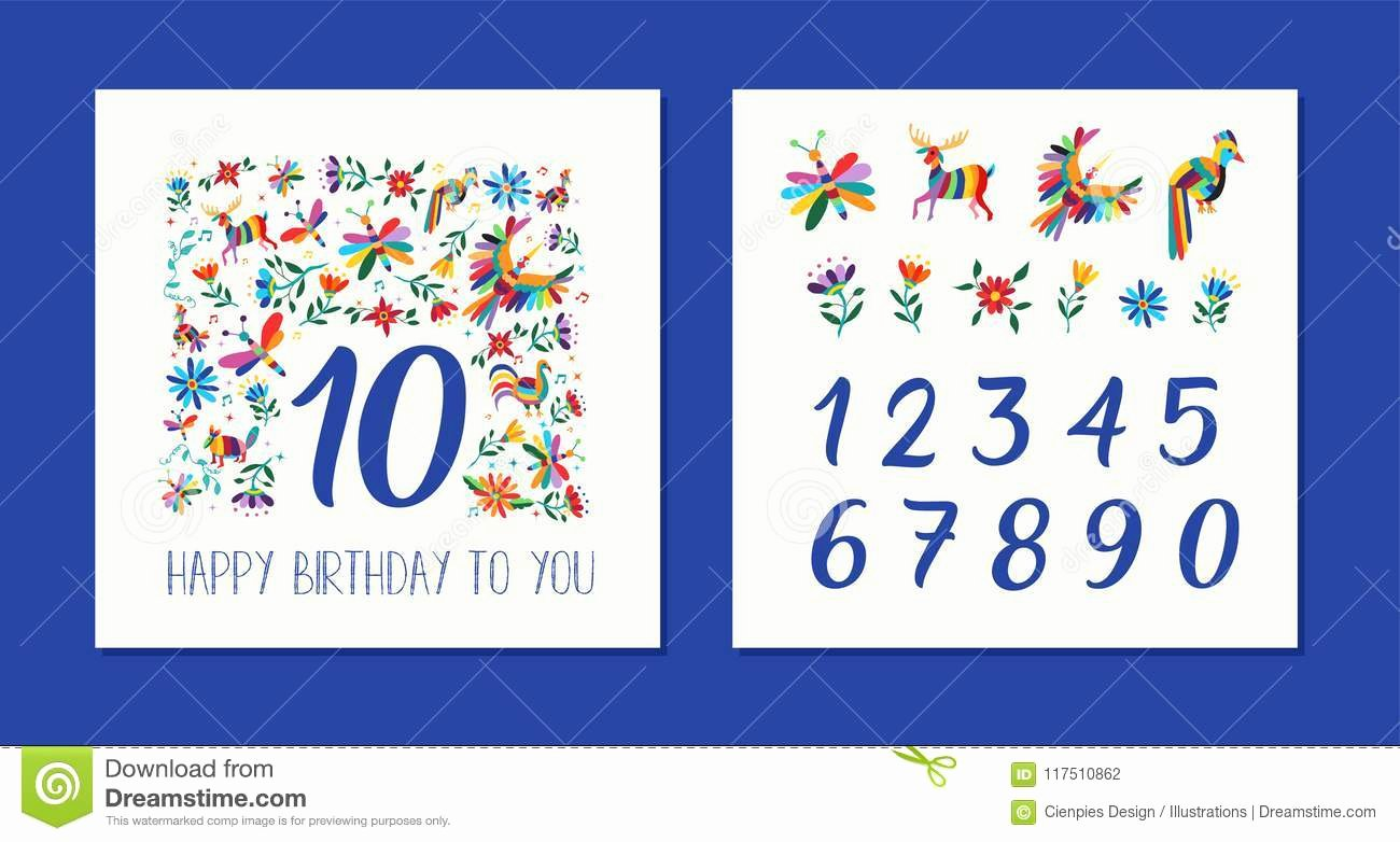 Service Dog Id Card Template Free Download Unique Happy Birthday Age Number Floral Card Template Stock