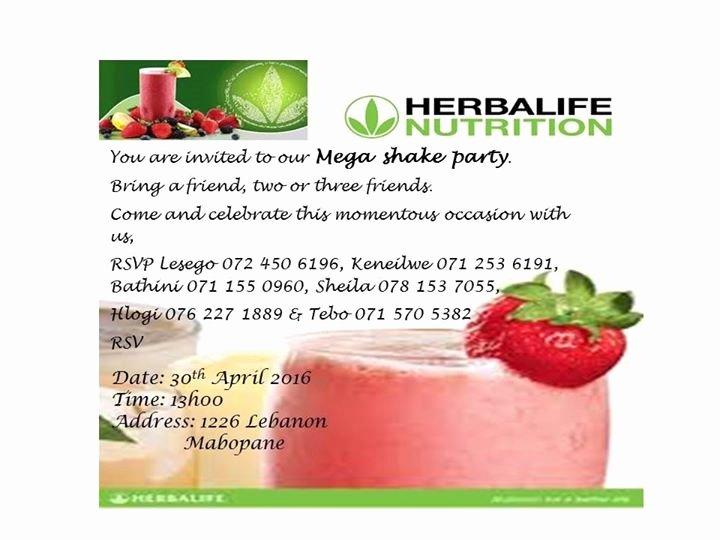 Shake Party Herbalife New Herbalife Mega Shake Party at Mabopane Lebanon Mabopane