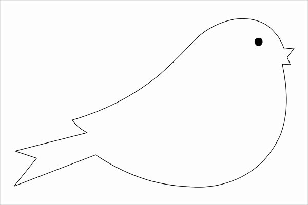 Shape Templates to Cut Out Awesome Bird Template Printable Printable 360 Degree