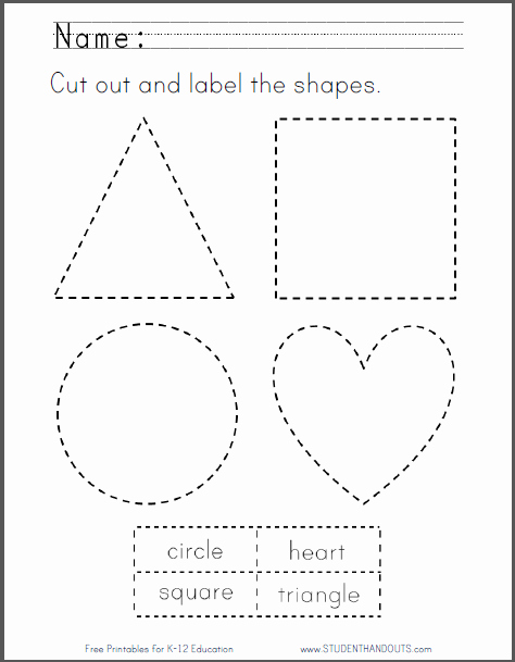 Shape Templates to Cut Out Beautiful 13 Best Of Preschool Worksheets Cutting Practice