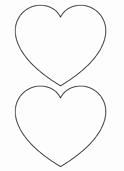 Shape Templates to Cut Out New Free Printable Heart Templates – Medium & Small