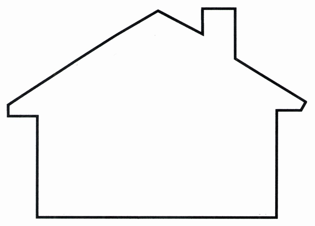 Shape Templates to Cut Out New House Template Clipart Best Templates