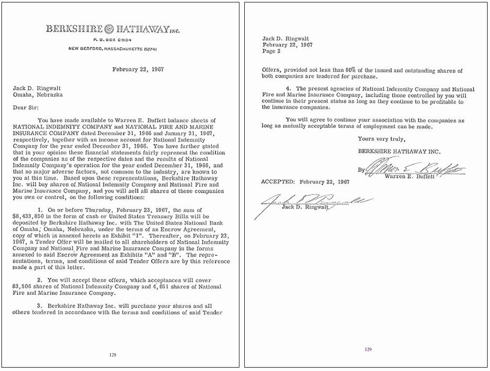 Shareholder Letter Examples Awesome Warren Buffet Letter to Holders Letter Of