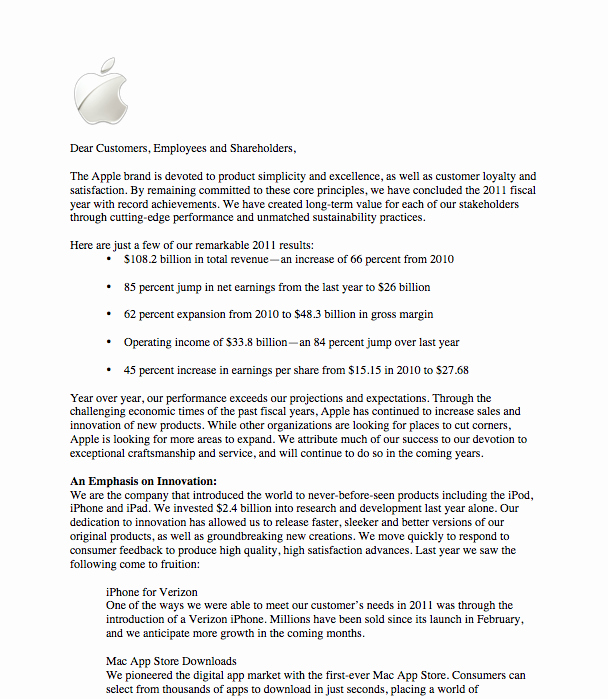 Shareholder Letter Examples Fresh Apple Holder Letter Lauren Osborn S Line Portfolio