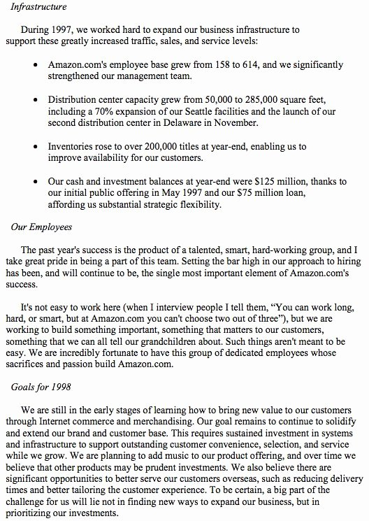 Shareholder Letter Template Beautiful 14 Years Ago Jeff Bezos told You How to Take Over the
