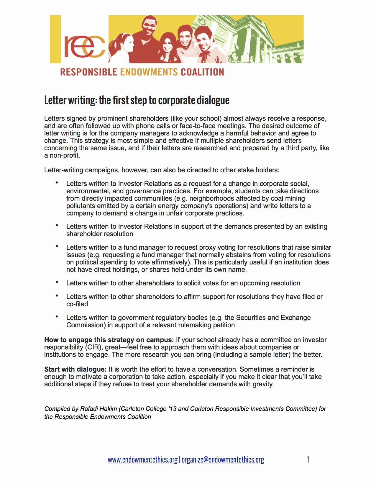 Shareholder Letter Template Best Of Mittees Resources Responsible Endowments Coalition