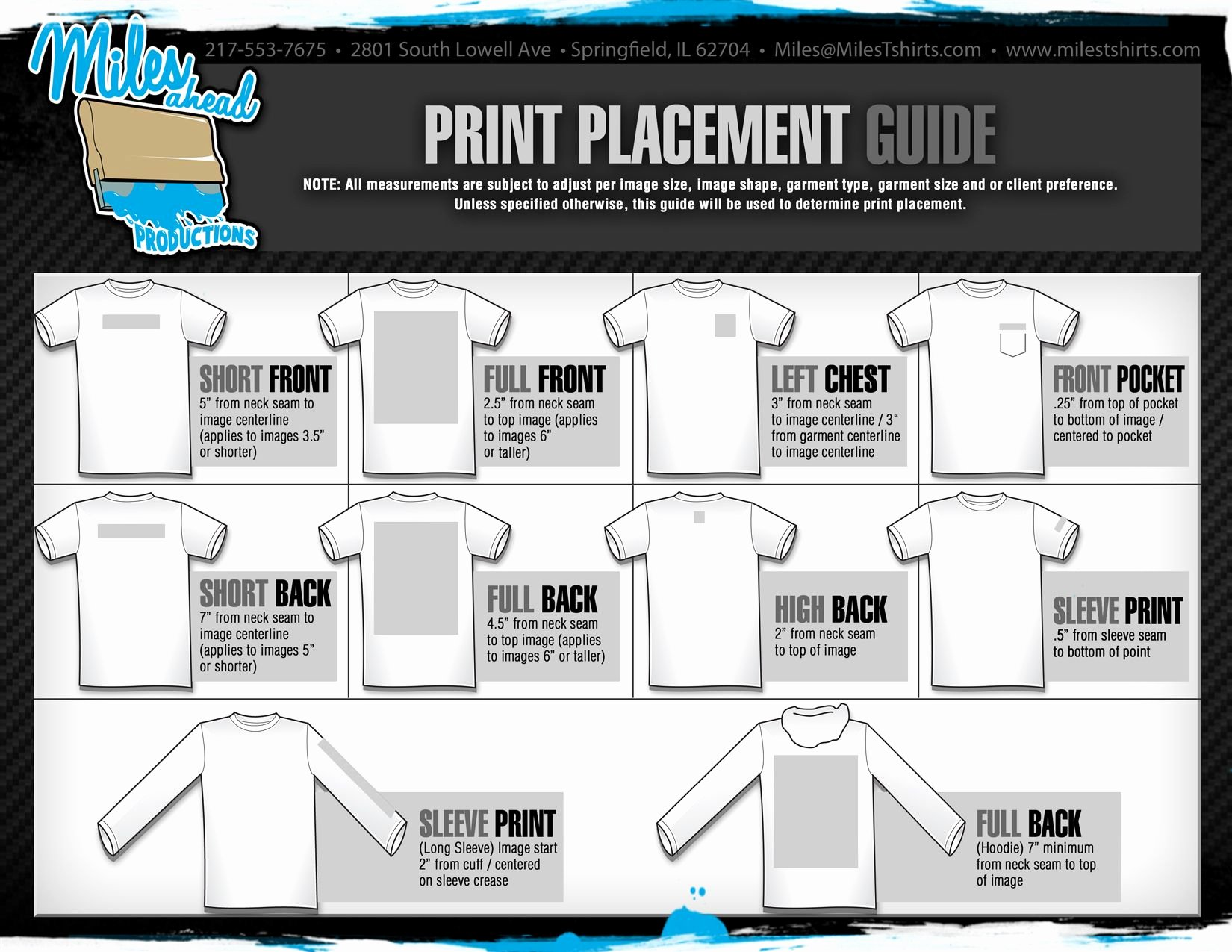 Shirt Decal Placement Luxury Graphic Placement On Tees Technical Design
