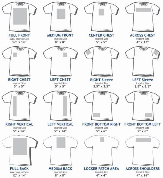 Shirt Decal Placement Unique 18 Best Transfer Size & Placement Images On Pinterest