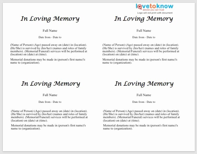 Short Obituary Examples Awesome 25 Free Obituary Templates and Samples Free Template