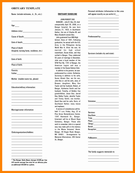 Short Obituary Examples Beautiful where Can You Find An Obituary Template