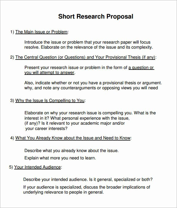 Short Proposal Example Best Of 10 Sample Research Proposal Templates