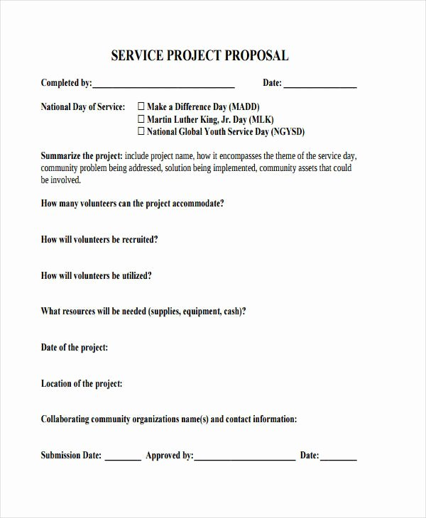 Short Proposal Example Best Of Service Proposal Template
