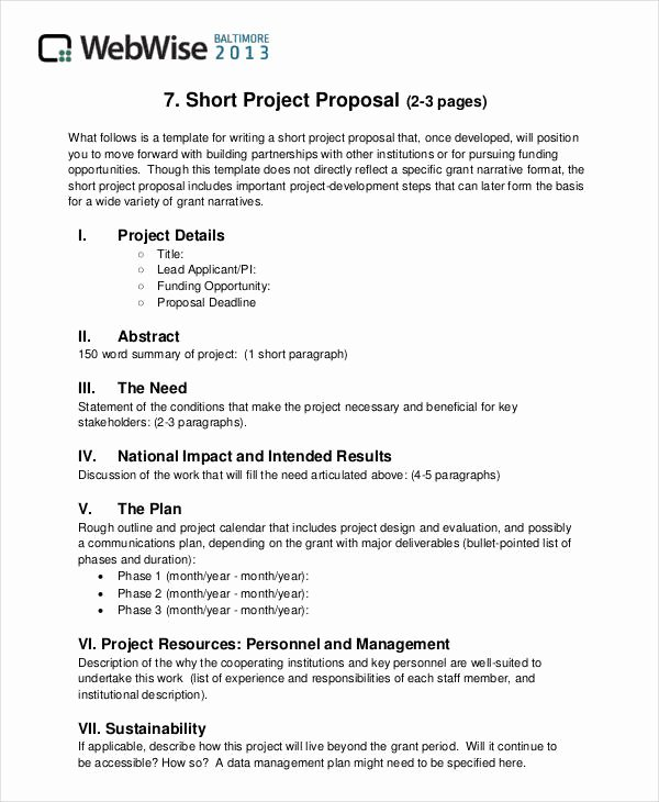 Short Proposal Example Lovely 36 Simple Proposal formats Examples Pdf Doc Pages