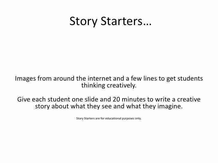 Short Story Essay Ideas Beautiful Story Starters