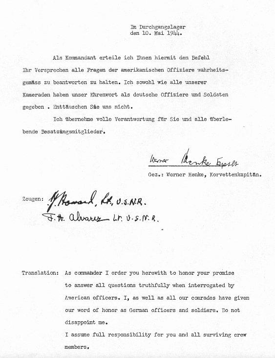 Signed Statement Example Beautiful U Boat Archive U 515 Statements