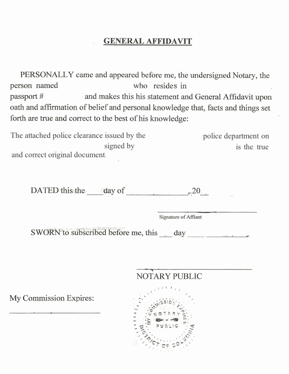 Signed Statement Example Lovely Notarizing A Police Clearance
