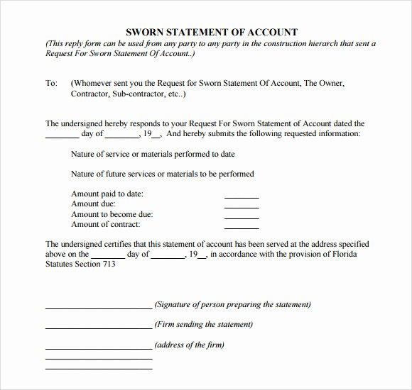 Signed Statement Example Luxury 11 Sample Sworn Statements Pdf Doc Pages