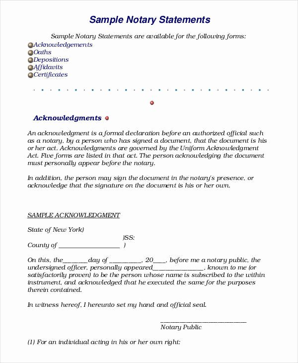 Signed Statement Example Unique 19 Sworn Statement Examples & Samples In Pdf Word